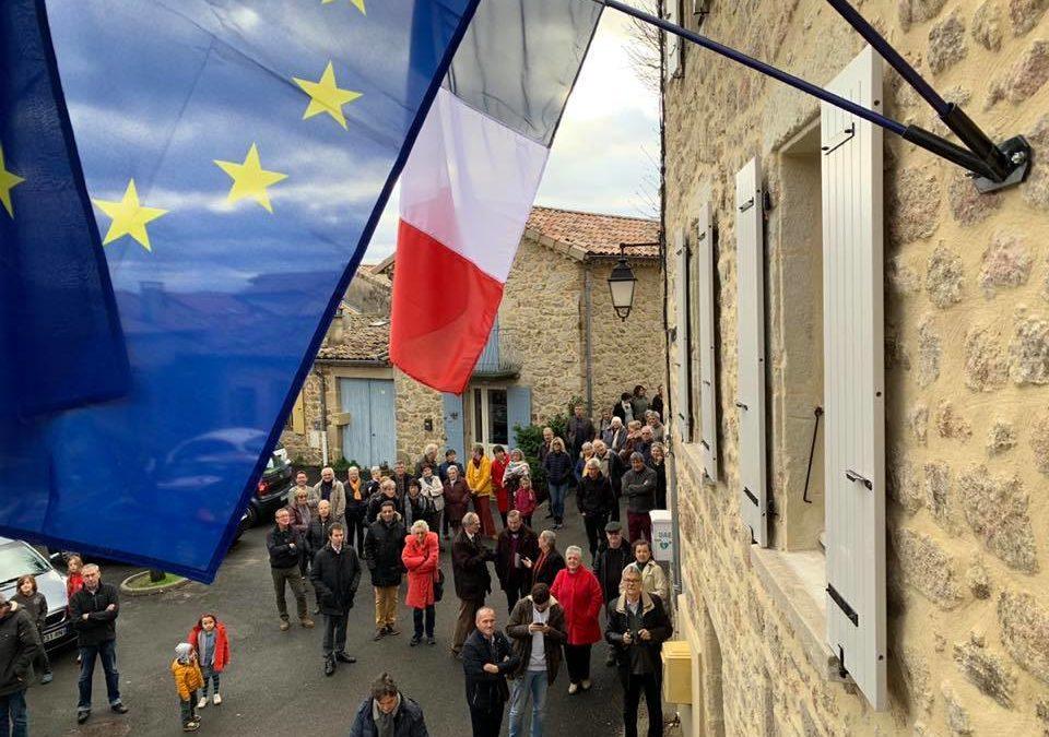 Inauguration de la rénovation de l'ancien bâtiment de la mairie de Saint-Andéol-de-Vals