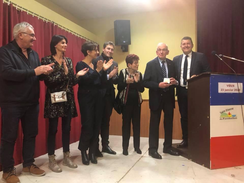 A St-Etienne-de-Fontbellon pour la dernière cérémonie de voeux de Paul Abeillon