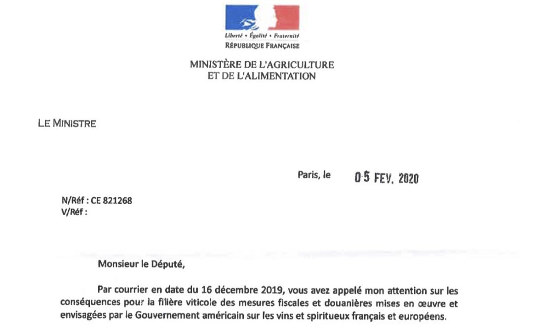 Défendons les viticulteurs français contre la politique douanière excessive des Etats-Unis.