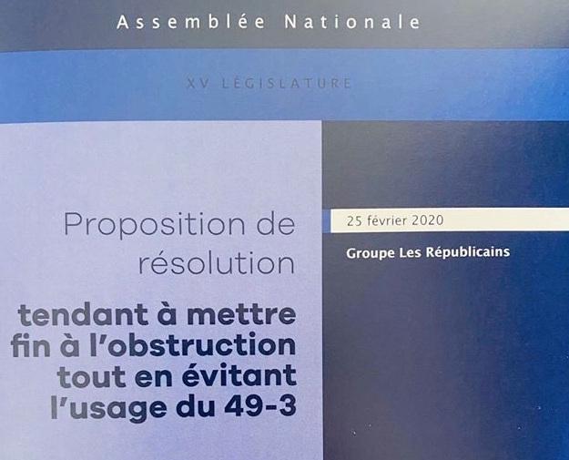 Nos propositions pour mettre fin à l'obstruction tout en évitant l'usage du 49-3.