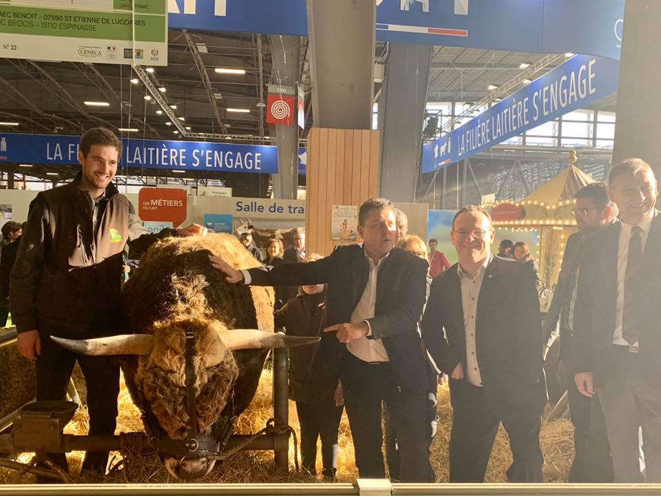 Formidable journée de travail au salon de l'Agriculture à Paris.