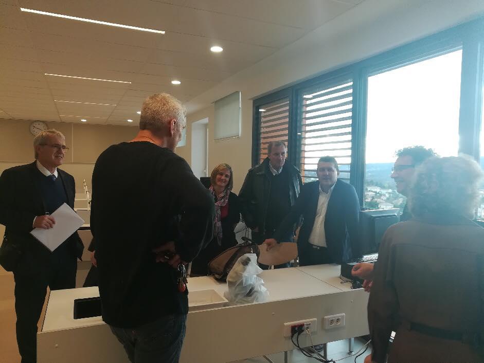 Visite des travaux en cours au lycée Marcel Gimond d'Aubenas