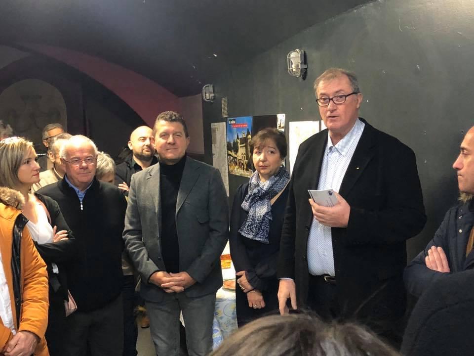 Inauguration du local de campagnie de la liste menée par Jean-Yves Meyer à Aubenas