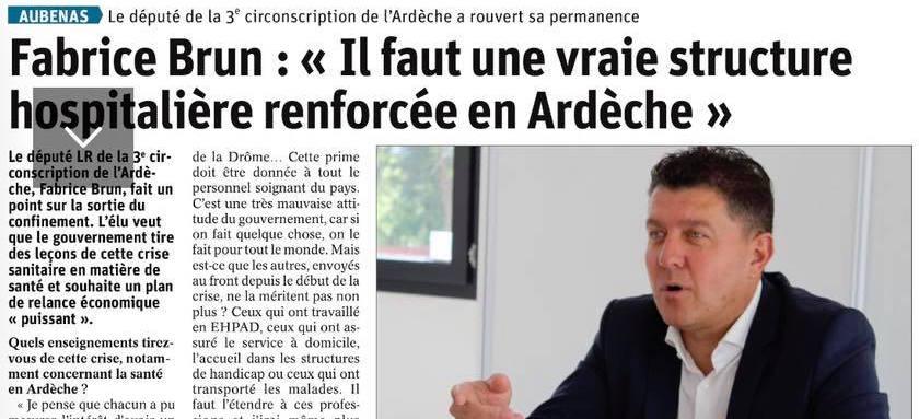 Revue de presse : Le Dauphiné Libéré du 16 mai 2020