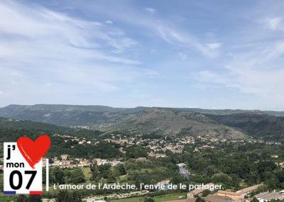 Panorama Pont d'Aubenas - St Privat
