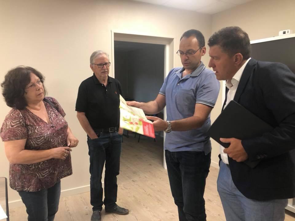 Réunions de travail avec deux maires fraichement élus à Rosières et Uzer.