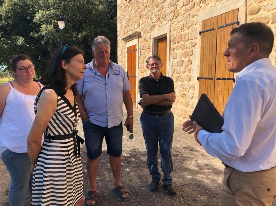 Nouvelles visites sur le terrain, à Saint-Genest-de-Beauzon et aux Vans, au contact des nouveaux élus municipaux.
