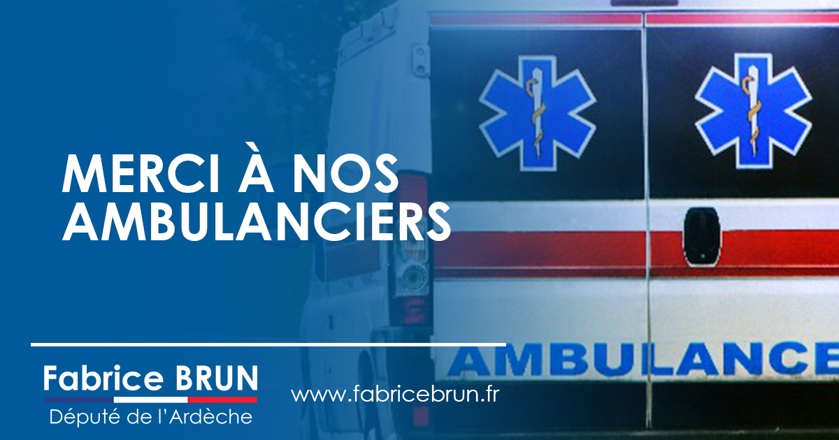 Merci à nos ambulanciers.