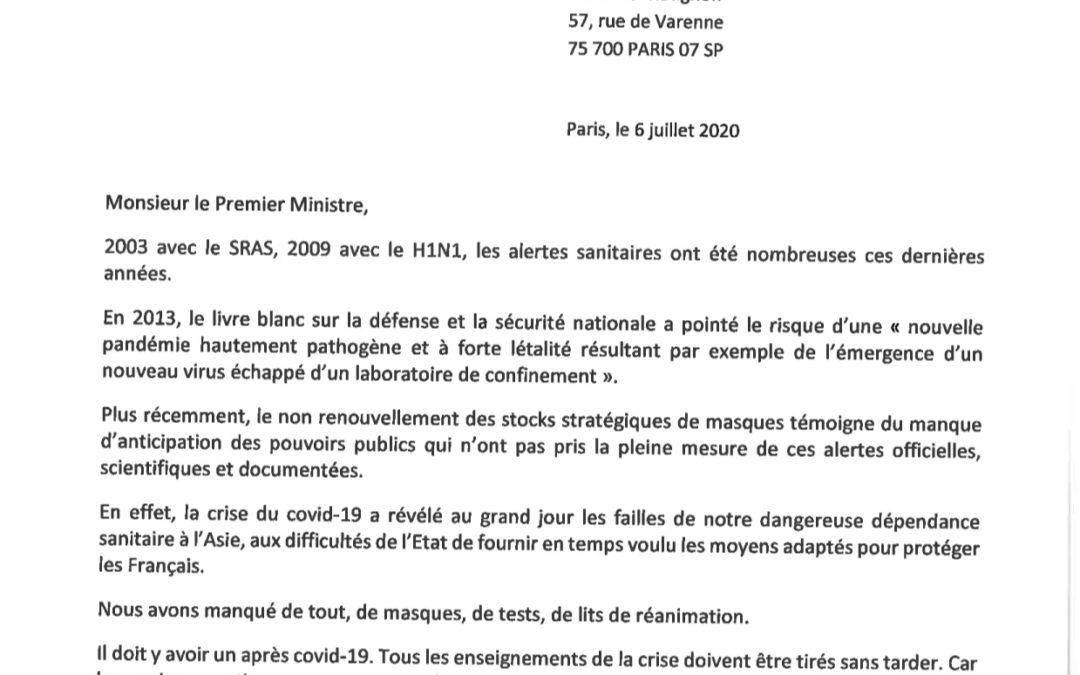 Ma première intervention au nouveau Premier Ministre : Serons nous prêts si un nouveau péril sanitaire menace la France?