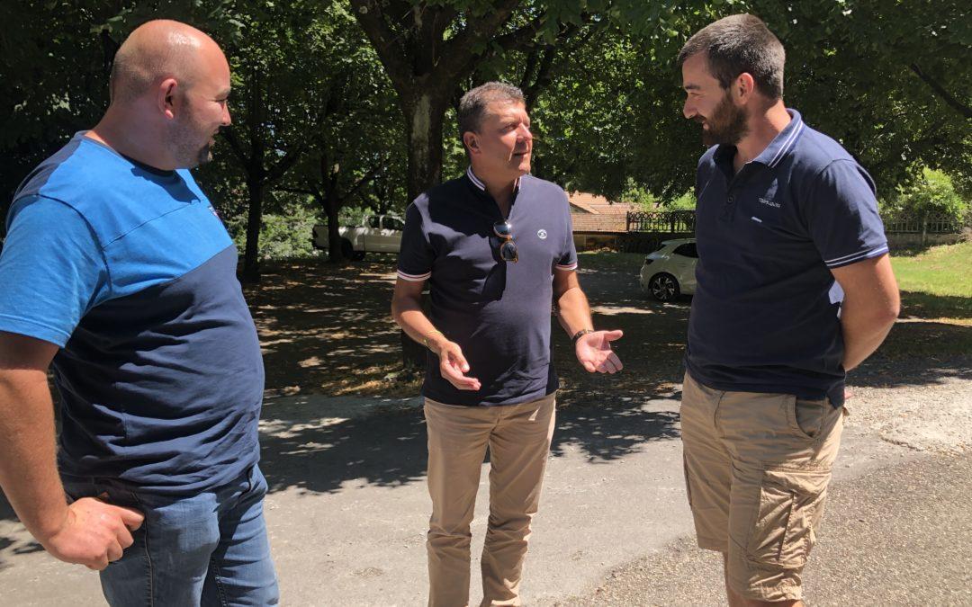 Réunion de travail avec les jeunes agriculteurs de l'Ardèche.