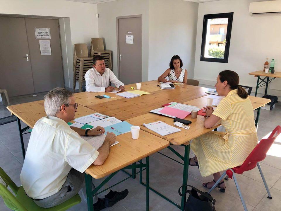 Réunion de travail sur les dossiers de la circonscription avec Julia CAPEL-DUNN, Secrétaire générale de la Préfecture de l'Ardèche