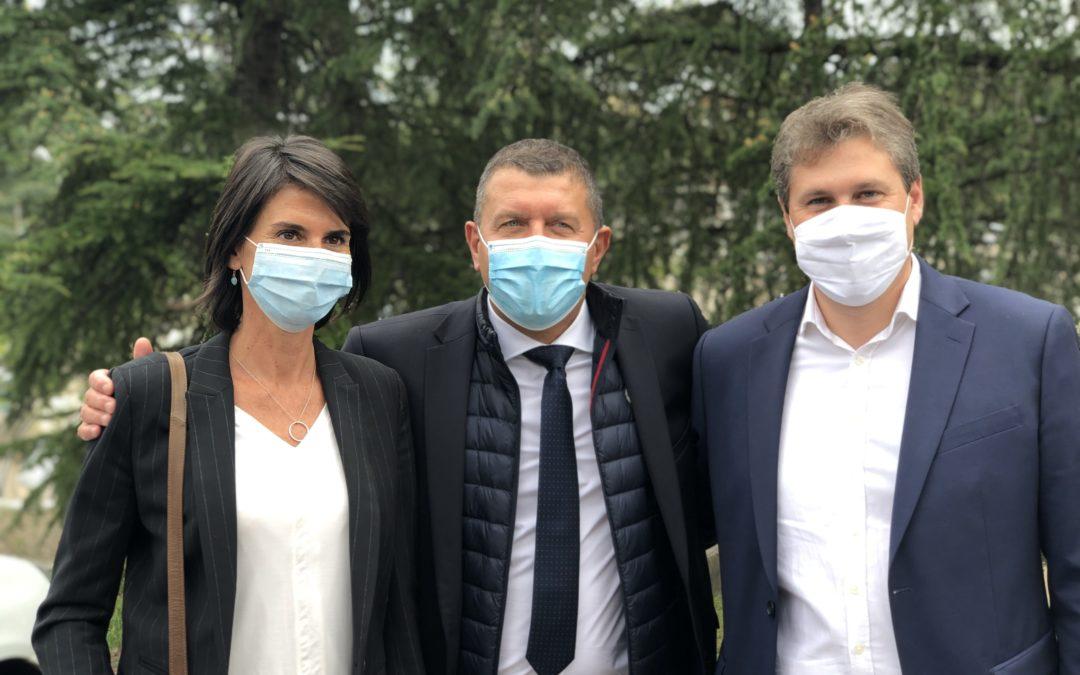Victoire de Mathieu Darnaud et Anne Ventalon aux élections sénatoriales.