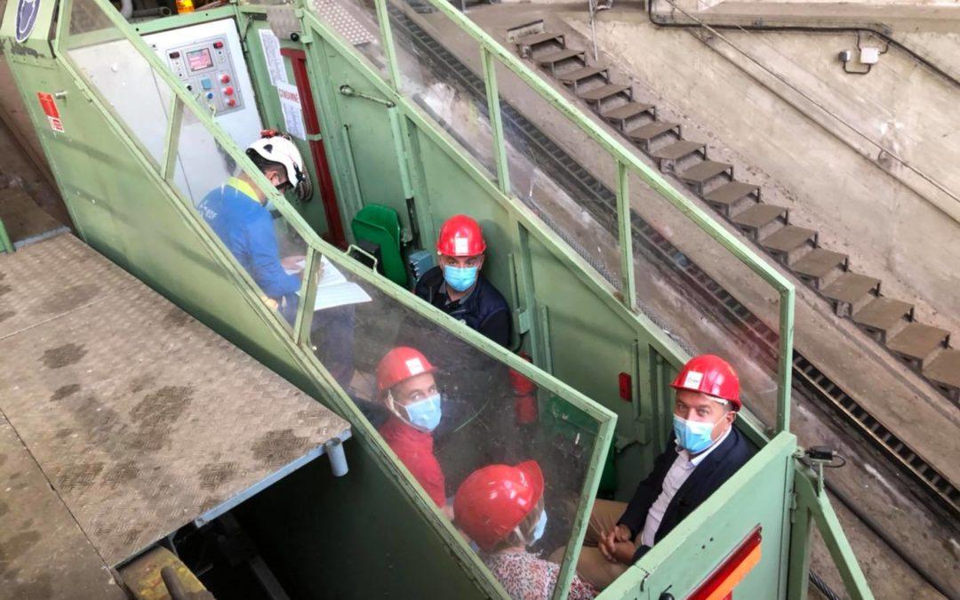 Visite de la centrale hydroélectrique de Montpezat.