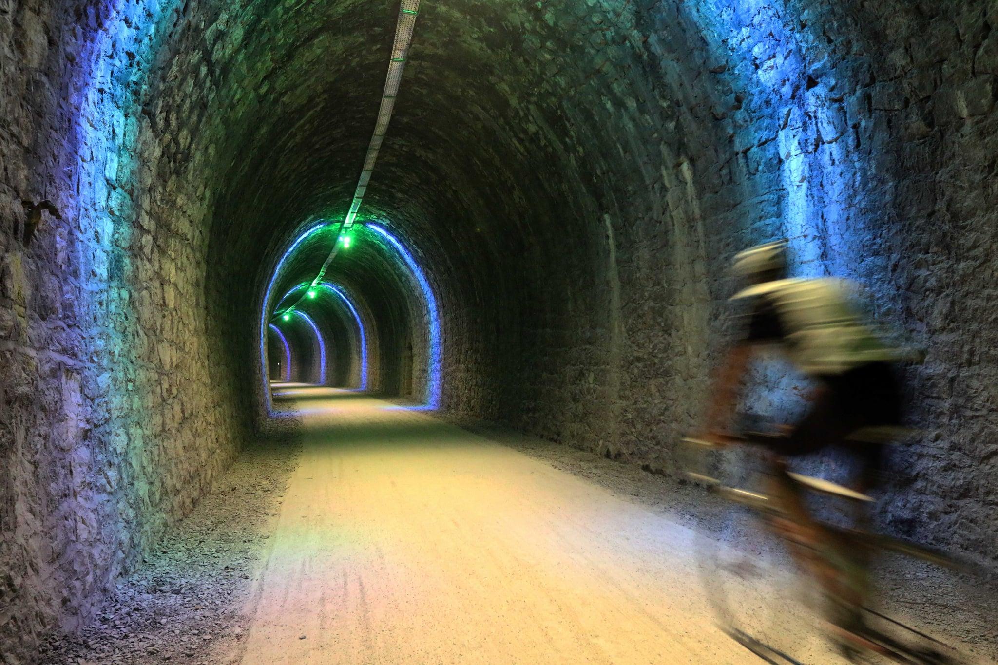 Inauguration de l'éclairage des tunnels de Vogüé et Balazuc sur la voie verte.