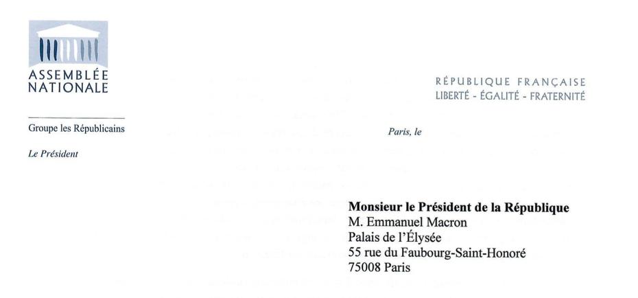 COVID-19 : Lettre au President de la République.