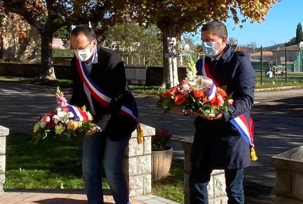 Cérémonie du 11 novembre à Rosières.