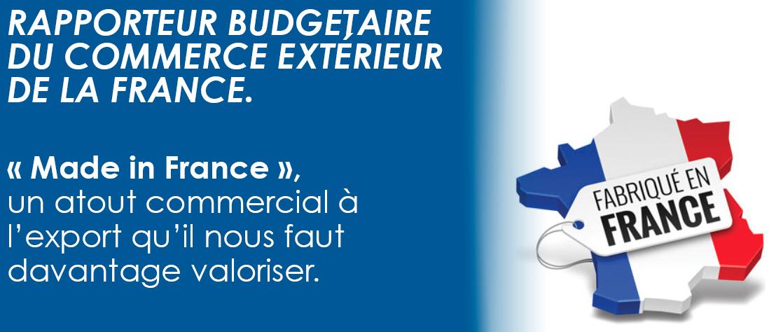 Rapporteur budgétaire du commerce extérieur de la France.