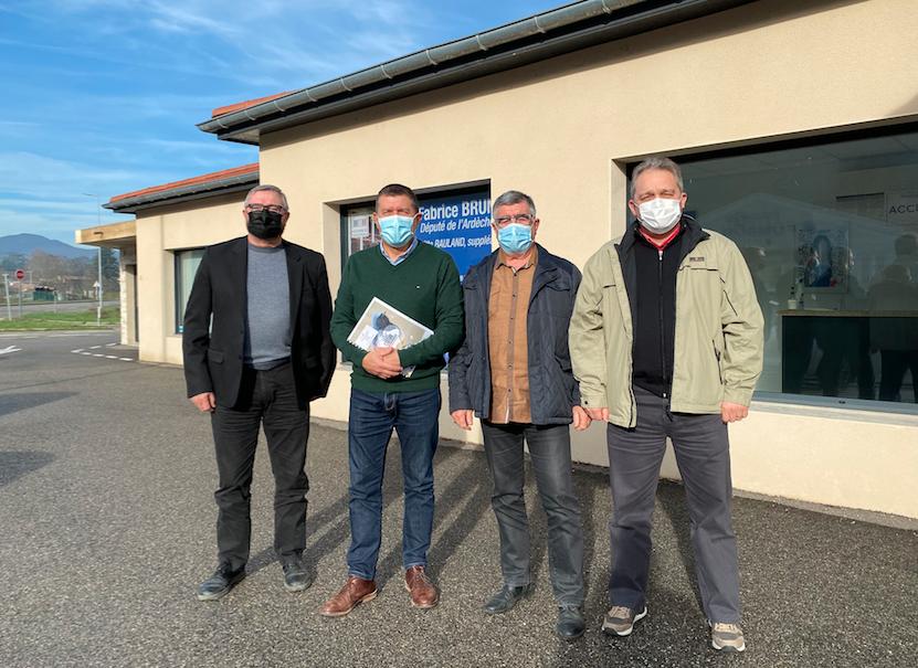 Réunion de travail avec la Fédération de Chasse de l'Ardèche.