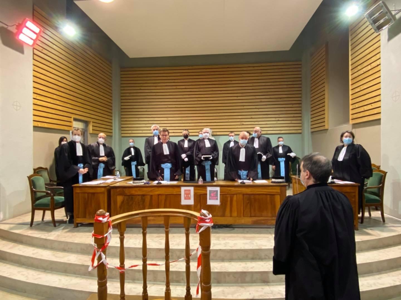 Rentrée solennelle du Tribunal de Commerce d'Aubenas.