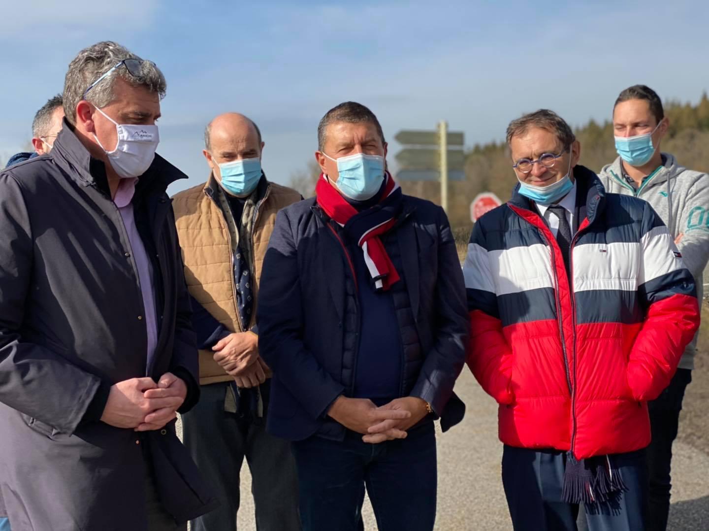 Le travail de fourmi se poursuit sur la RN 102, avec mes collègues députés, Jean-Pierre Vigier et Pierre Morel A L'Huissier.