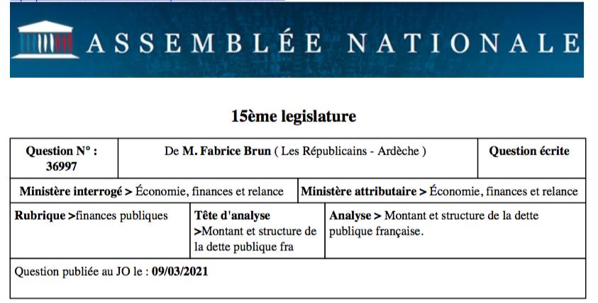 Qui détient la dette publique française ?