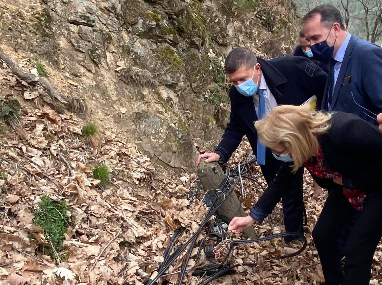 Visite sur le terrain en Ardèche de Laure de la Raudière, nouvelle présidente de l'ARCEP.