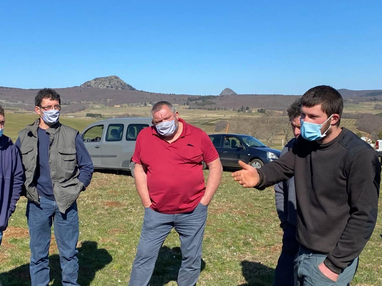 Journée de terrain sur la Montagne ardéchoise.