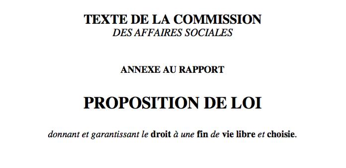 Proposition de loi donnant droit à une fin de vie libre et choisie : Avez-vous lu le texte ?