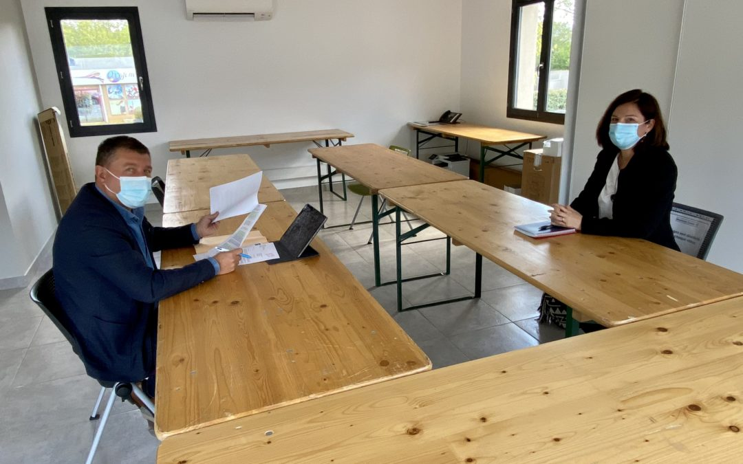 Réunion avec Fabienne SEGUI, déléguée départementale pour l'Ardèche de la Fédération Française des Services à la Personne et de Proximité