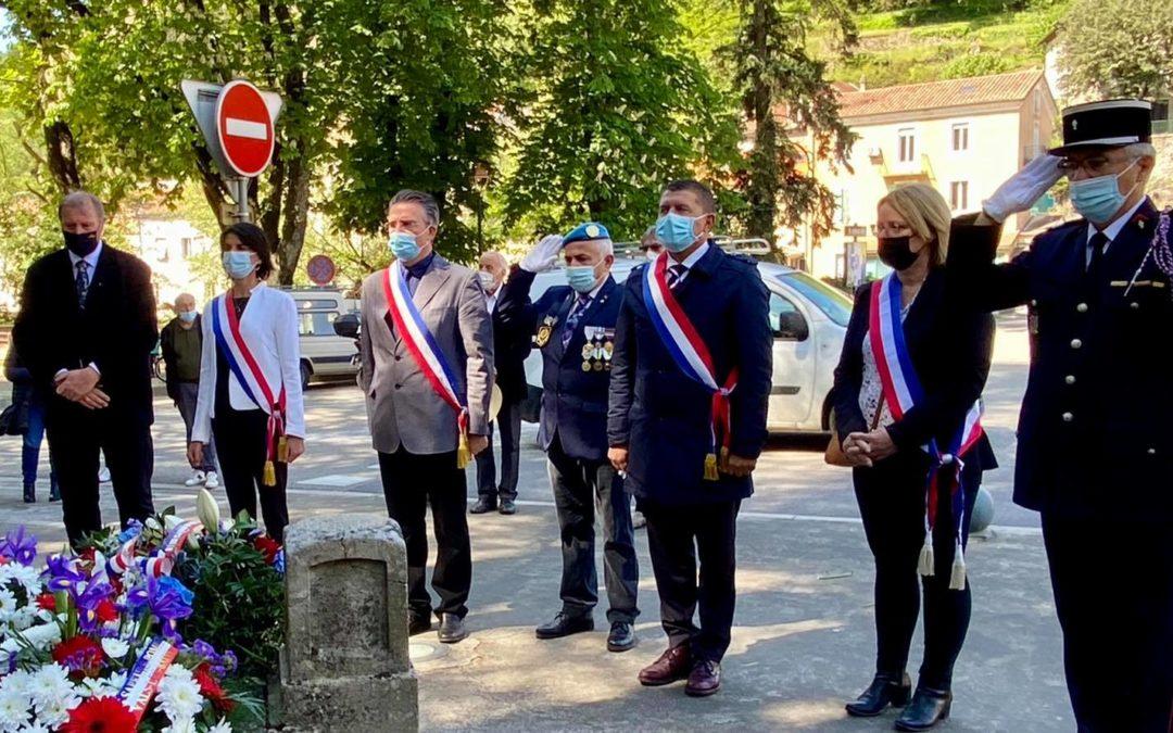 Commémoration du 8 mai 1945 à Aubenas, Labégude et Vals-les-Bains.