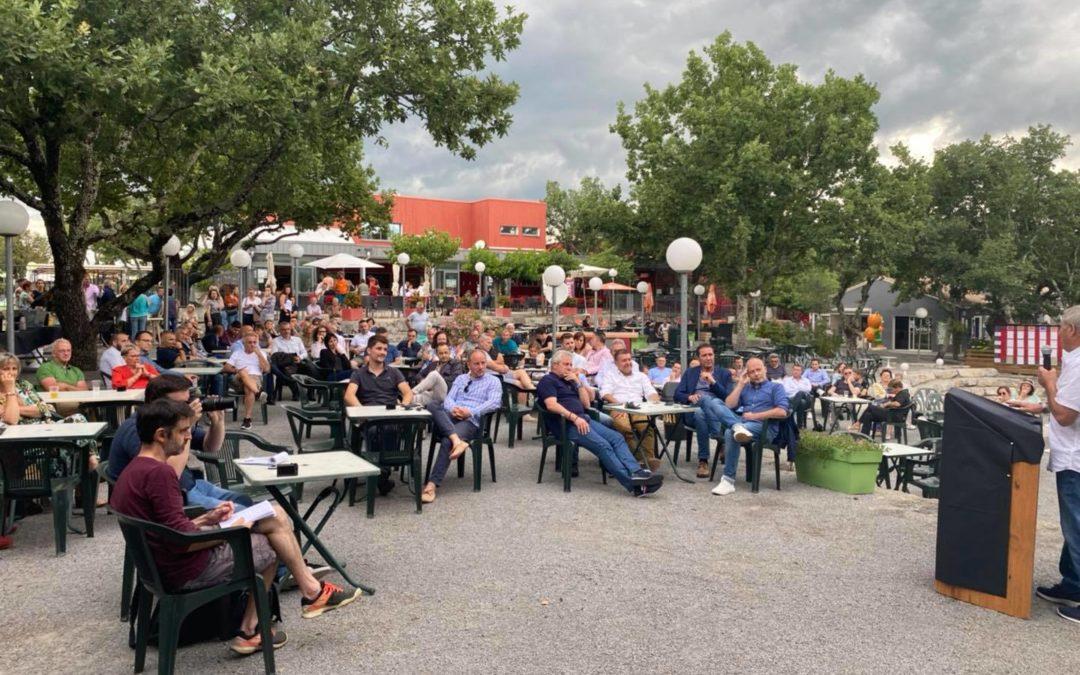 Soirée des partenaires de l'Ardèche Aluna Festival à Ruoms.