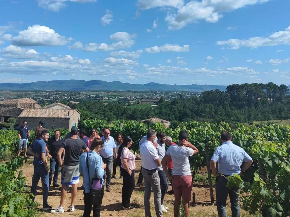 Inauguration de l'exploitation viticole de Quentin Coudeyre à Lablachère.