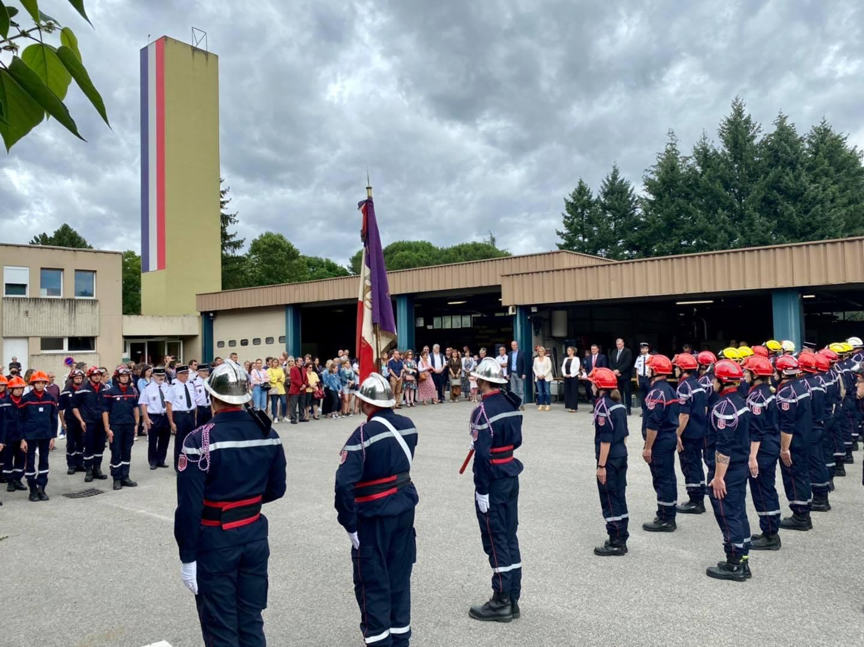 Aux côtés de nos pompiers pour la cérémonie Albert Ladet.