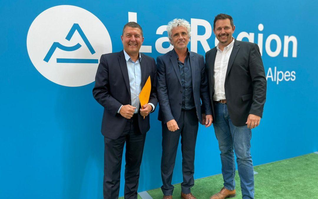Réunion de travail avec Olivier Amrane et Jean-Pierre Taite.