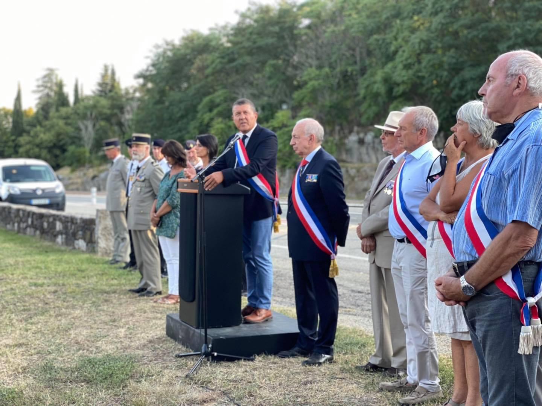 Commémoration des 25 et 29 août 1944 à Lavilledieu.