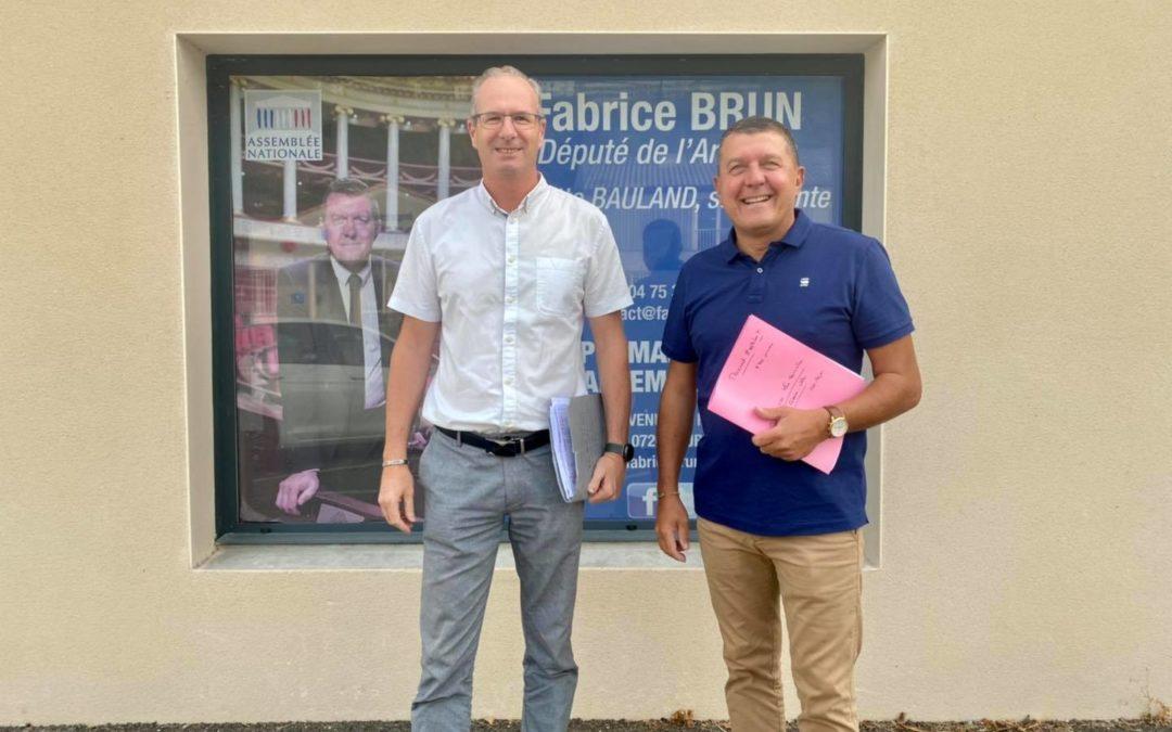 Réunion de travail avec Max Tourvieilhe, président de la communauté de communes du Bassin d'Aubenas.